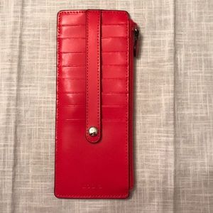 Brand New Lodis Red Card Holder